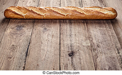 Freshly baked crusty French baguette
