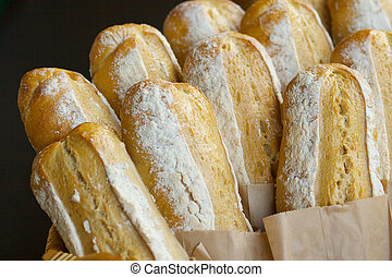 German Bread Loaves - Freshly baked German Bread Loaves at...