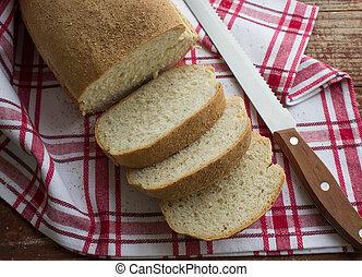 homemade bread - freshly baked homemade bread