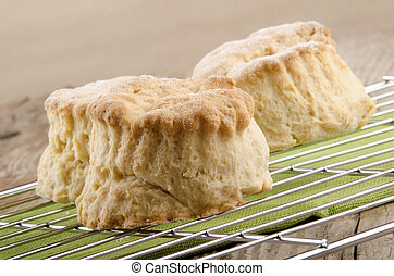 freshly baked scone on a cooling rack