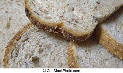 Freshly baked white bread for lunch.