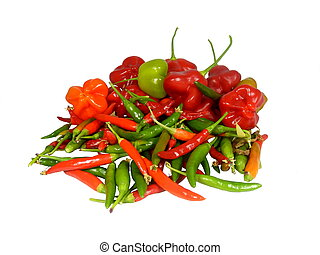 Freshly Picked Chillies - Freshly picked Birds Eye and...