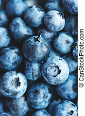 Freshly picked organic blueberries.