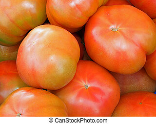 red tomatoes for sale in the Mediterranean market