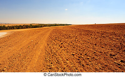 Plowed Field - Freshly Plowed Field in Spring Ready for ...