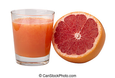 freshly squeezed grapefruit juice in a glass