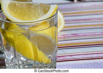 freshness concept, homemade lemonade Summer detox drink with lemon in glass jars. Fresh water, refreshment drink