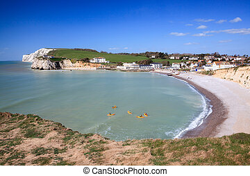 Freshwater Bay Isle Of Wight England - Overlooking the beach...