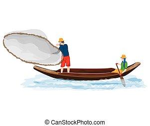 Freshwater fishing vector design