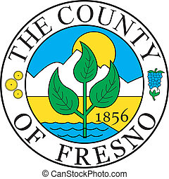 Fresno county seal - Various vector flags, state symbols,...