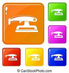 Fret saw icons set color