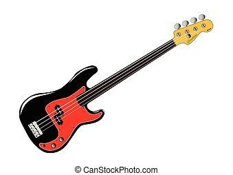 Fretless Bass Guitar - A generic fretless bass guitar...