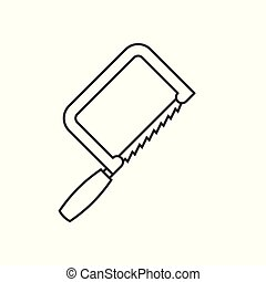 Fretsaw outline icon