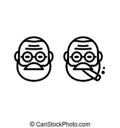 Freud line icon