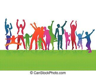 Freude mit Eltern und Kinder.eps - Parents and children are...