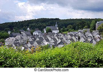 Freudenberg, Germany - Freudenberg, The monotone half ...