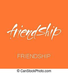 freundschaft, schablone, beschriftung