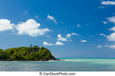 Friar's bay on St Martin in Caribbean - Headland off Friar's...
