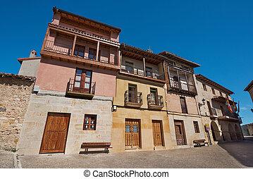Frias medieval village houses in Burgos, Castilla y Leon, Spain.