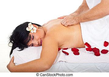 Friction back massage type