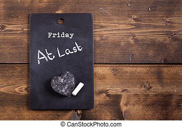 Friday at last blackboard notice