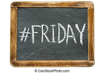 Friday hashtag