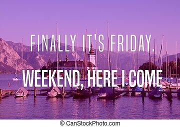 Friday motivational poster