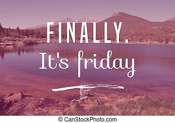 Friday social media