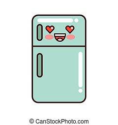 fridge appliance kawaii style isolated icon