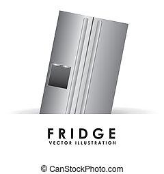 fridge graphic design , vector illustration