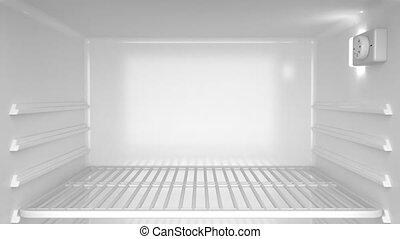 Fridge - Empty white refrigerator