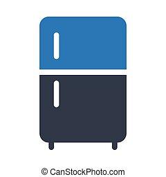 fridge   glyph color icon