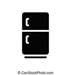 fridge  glyph flat icon