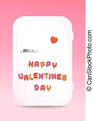 Fridge greeting card HAPPY VALENTINES DAY sign