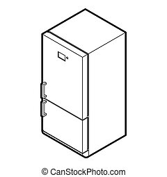 Fridge icon in outline style