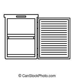 Fridge icon, outline style