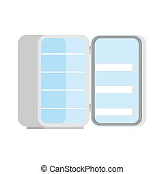 fridge Open blank isolated. Refrigerator Vector illustration