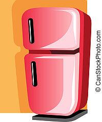 fridge - Illustration of refrigerator in black handle