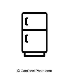 fridge  thin line icon