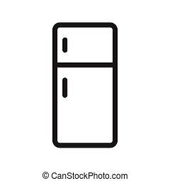 fridge thin line vector icon