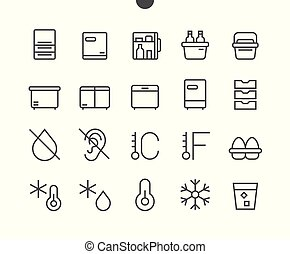 Fridge UI Pixel Perfect Well-crafted Vector Thin Line Icons 48x48 Ready for 24x24 Grid for Web Graphics and Apps with Editable Stroke. Simple Minimal Pictogram