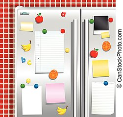 Fridgefreezer door with magnets