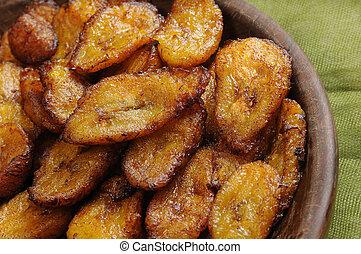 Fried bananas dish