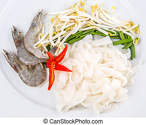 Fried Char Kway Teow Ingredients