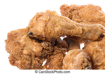 Fried Chicken Isolated - Isolated macro image of fried...