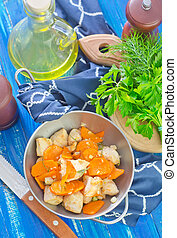 fried chicken with carrot