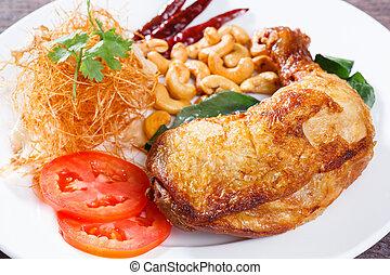 Fried chicken with lemon grass herb