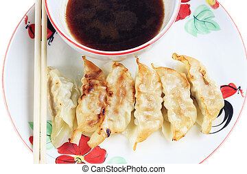 Fried dumplings.
