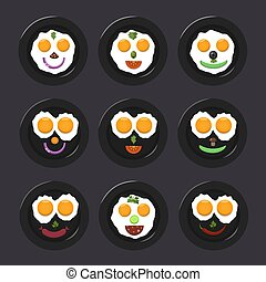 Fried egg icons