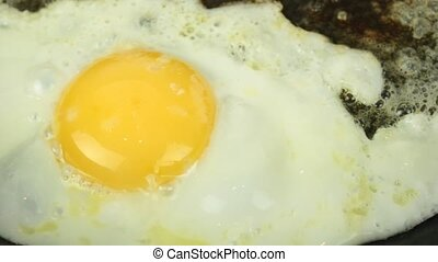 Fried egg - HD video with sound -